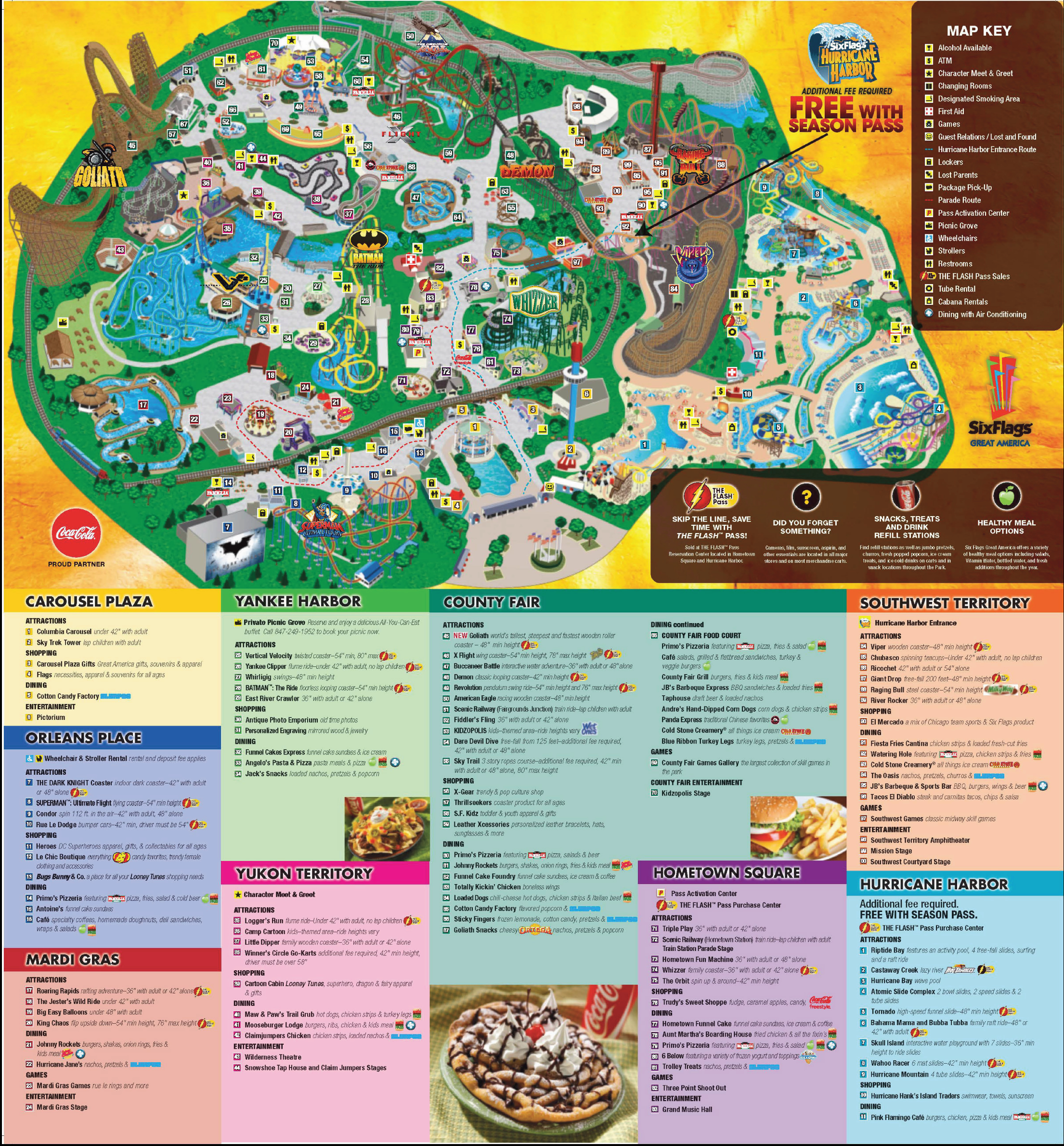 Six Flags Great America Park Map America Map